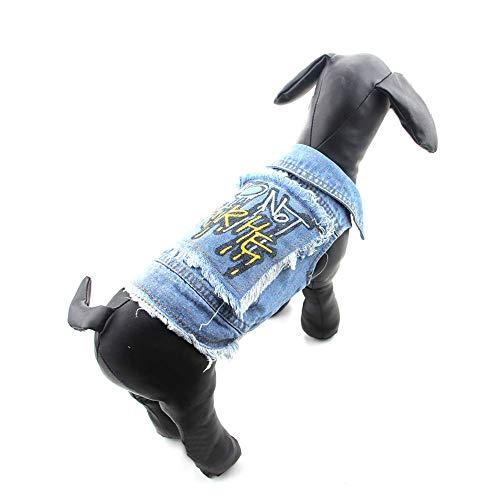 """stüm, Denim-Weste, Pullover, Kapuzenpullover, für alle Jahreszeiten, für kleine und mittelgroße Hunde und Katzen, XS(Chest 11.8-12.59"""",Back 6.6-7.8"""") ()"""