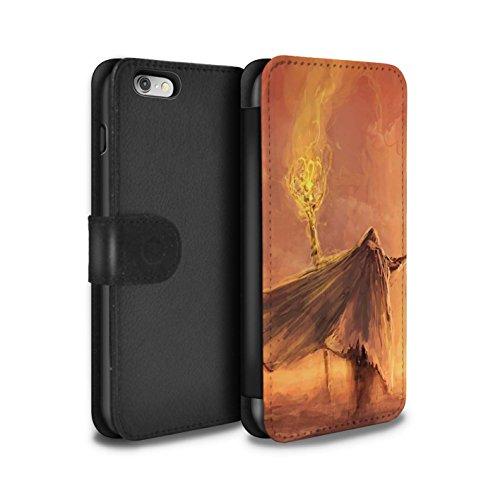 Offiziell Chris Cold PU-Leder Hülle/Case/Tasche/Cover für Apple iPhone 6S / Gevatter Tod Muster / Dämonisches Tier Kollektion Kriegsheld/Warlock