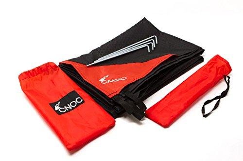 cnoc Premium Faltbare Taschendecke & Picknickdecke I Picknickdecke Wasserdicht | Picknickdecke Waschbar | Campingdecke | Pocket Picknickdecke | Picnic Matte | Decke Strand inkl. 4 Heringe & Tasche