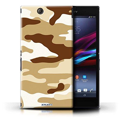 Kobalt® Imprimé Etui / Coque pour Sony Xperia Z Ultra / Rose 4 conception / Série Armée/Camouflage Marron 2