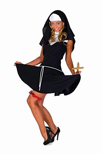 Nonne Sexy Kostüm - Damen Kostüm sexy Nonne Nonnenkostüm Karneval Fasching Gr.38