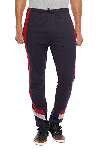 HAPPY HOURS Men's Cotton Track Pant (Blue, XX-Large)