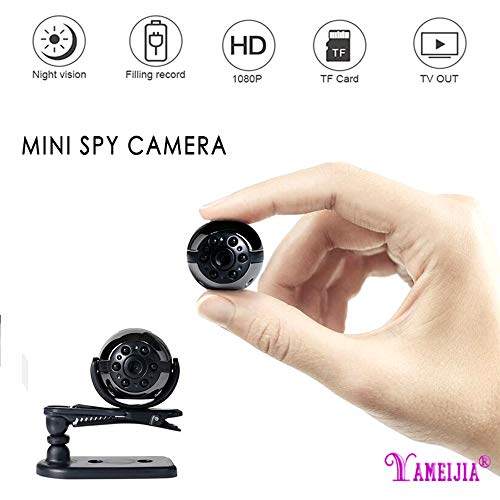 YAMEIJIA Mini Versteckter Kamera, Mini Auto DVR Kamera, Wasserdicht 1080P Full HD Nachtsicht Spy Camcorder Loop Aufnahme Tragbar Nanny Cam Spy Camera Auto Home Office Innen-/Außeneinsatz
