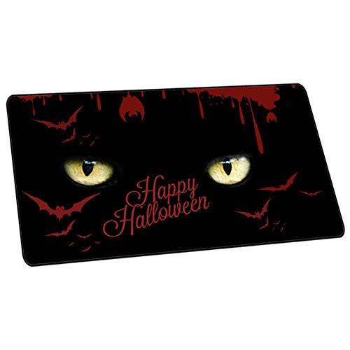 Halloween-Kinder/Jungen/Mädchen Kinderschreibtisch Multifunktionales Office Mauspad/Gaming Mousepad/wasserdichte Schreibtischunterlage aus PU-Leder, ideal für Büro und Zuhause,Q