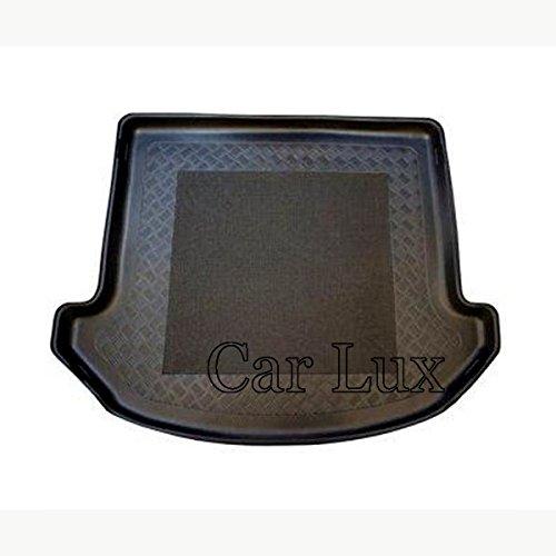 Car Lux AR02877 - Alfombra Cubeta Protector cubre maletero a medida para Santa Fe