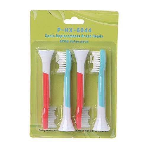 4 testine di ricambio per spazzolino elettrico Sonicare HX6044