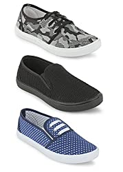 Scantia Women Combo Pack of 3(Casual Shoes With Loafer & Maccosins & Sneaker Shoe)
