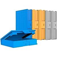 "Inateck(HPFx6) Funda Caja de Almacenamiento para HDD Discos Duros 3,5"" Anti Golpes, Anti Estática, Anti Polvo, Estuche para HDD de 3.5 Pulgadas, Paquete x 6, Naranjo/Azul/Gris"