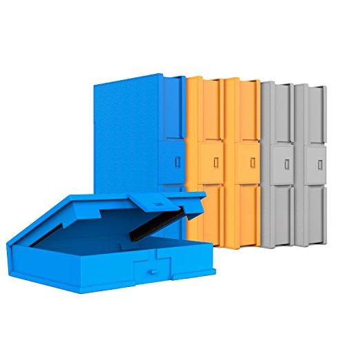"""Inateck Scatola custodia protettiva per Hard Drive Dischi Rigidi da 3.5 pollici Anti Urto, Anti Statica, Anti Polvere, Scatola per HDD da 3.5"""", Pacco da 6, Arancione/Blu/Grigio (HPFx6)"""