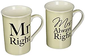 Mr & Mrs Right Boccales Boxed Pair