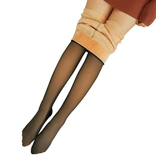 EFE Fe Legs Fake Translucent Warm Pantyhose Slim Stretch für Winter Outdoor Schwarze Strumpfhose