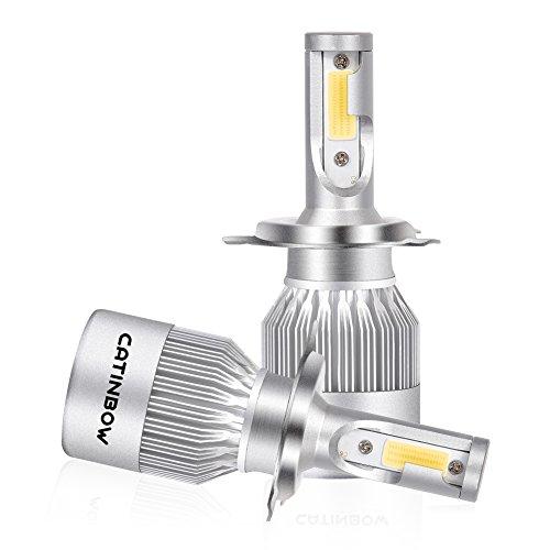 Lampadine H4 HB2 9003 LED, 80 W 8000LM Fari Abbaglianti o Anabbaglianti per Auto, Kit Lampada Sostituzione per Alogena Lampade e Xenon Luci 9V-32V, 6000K Bianco