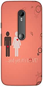 Snoogg And yet its love Hard Back Case Cover Shield For Motorola G 3rd generation (Moto G3)