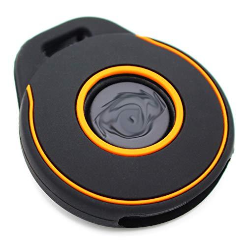 Schlüssel Hülle HAA für Motorrad Schlüssel Silikon Cover Keyless Go Fahrzeugschlüssel (Schwarz Orange) (Harley Davidson Aufkleber Orange)