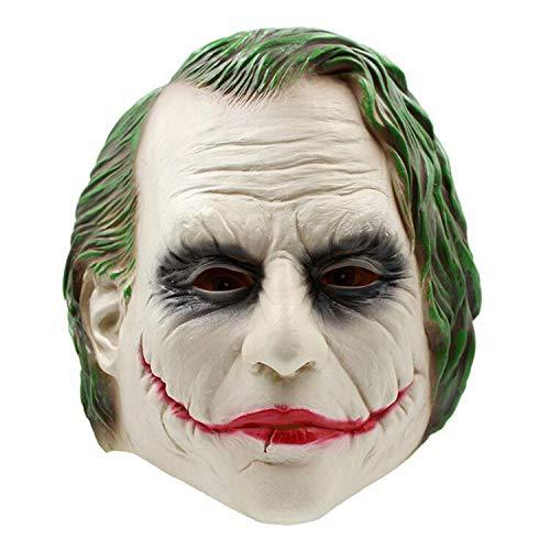 Frauen Dead Kostüm Clown - AUKBEC Scary Joker Clown Vollmaske Eco Latex Super Bösewicht Creepy Horror Halloween Cosplay Gesichtsmasken Crazy Party Erwachsene Kostüme Requisiten