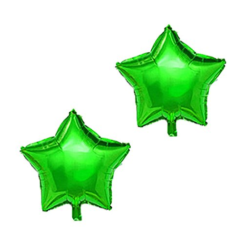 Tradico® Green: Foil Star Shape Balloon Birthday Anniversary Party Decor 10 inches 2 Pcs Green