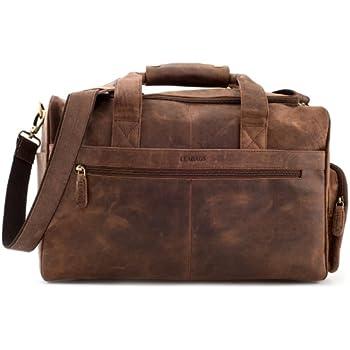 LEABAGS Oslo sac de voyage rétro-vintage en véritable cuir de buffle - Noix de muscade ny3lArnsh