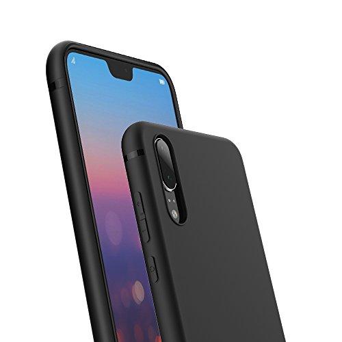 EasyAcc Custodia per Huawei P20, Morbido TPU Cover Slim Anti Scivolo Protezione Posteriore Case Antiurto E' Adatto per Huawei P20 – Nero