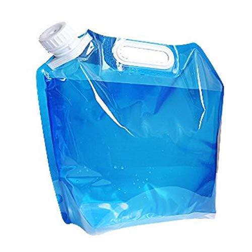 Qiaoxianpo01 Falteimer, Outdoor-Campingzubehör, tragbarer Plastikeimer, zusammenklappbarer Wassersack, große Kapazität, 5L, 10L, blau Prägnant (Color : Blue, Size : 37.5 * 41cm) -
