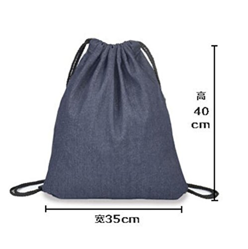 Imagen de laat bolsa con cordón bolsa para la escuela  de hombro  de cordón alternativa