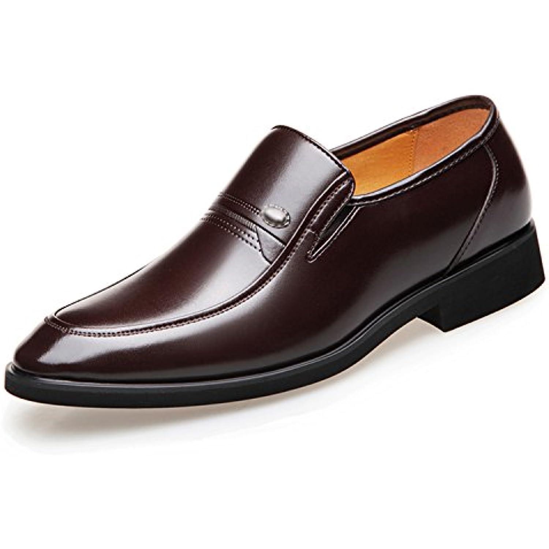Esthesis Homme Chaussures en Cuir d'affaires Bout à Bout d'affaires Pointu Chaussures Formelles Slip on Oxfords Chaussures - B07FH7ZYGZ - 19f65c