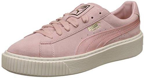Puma Suede Platform Satin Femmes Baskets, Rose, 38.5 EU