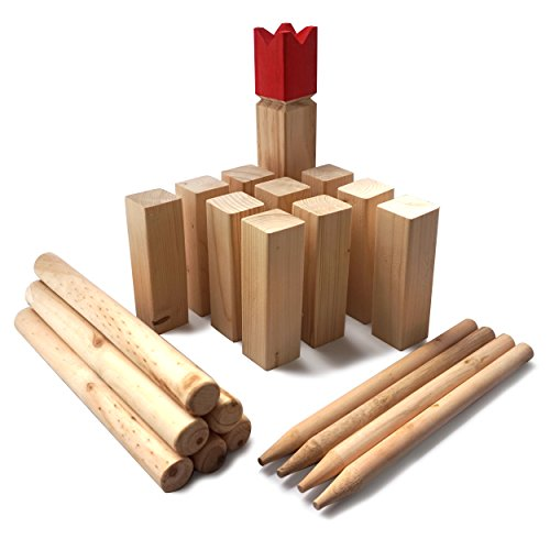 ocean5 kubb original wikinger spiel f r drau en holz wurfspiel mit 3s gmbh co kg. Black Bedroom Furniture Sets. Home Design Ideas