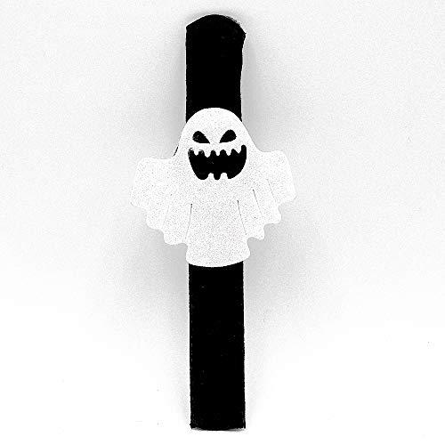 Spinne Kürbis Slap Armband Halloween Snap Slip Armband Band für Happy Halloween Handgelenk Dekoration Party Gefälligkeiten für Kinder (Spinnen Pappteller Halloween)