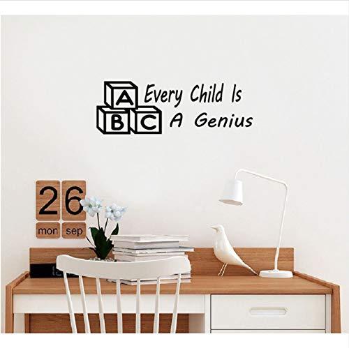 lisch Zitat Vinyl Wandaufkleber Für Kinderzimmer Schlafzimmer Wohnkultur 19X56Cm ()