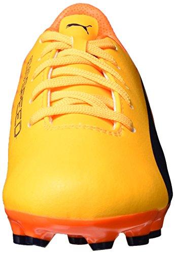 Puma Evospeed 17.5 Ag Jr, Chaussures de Football Mixte Enfant Jaune (Ultra Yellow-peacoat-orange Clown Fish 03)
