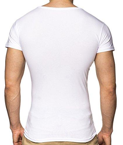 LEIF NELSON Herren T-Shirt LN3060 Weiß