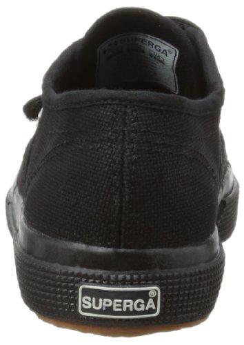 Superga 2750 Jvel Classic, Unisex-Child Low-Top Trainers, Full Black, 1.5 Child UK