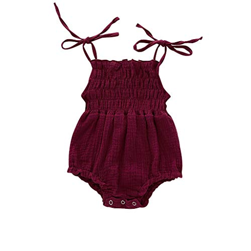 Baby Mädchen Ärmellose Hosenträger Folding Romper Jumpsuit Bodysuit Sommer Süß Babykleidung Prinzessin Kleidung Mode Bequem Strampler Baby-Outfits ()