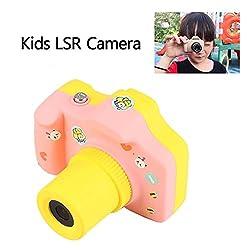 Rungao Mini 1.5 Inch Screen Children Kids Digital Camera With 8gb Cards,pink