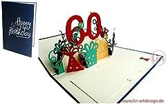 Idea Regalo - LIN - Pop Up 3D Biglietto di auguri, Buon compleanno 60 anni, (#23)