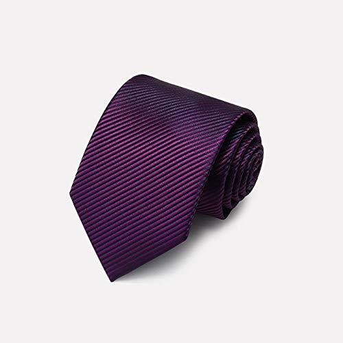 Krawatten Krawatte Polyester Herren Diagonale Streifen Fashion Business Kollokation Lila, Blau 3,5 * 8 * 145cm (Farbe: LILA) - Blau Diagonale Streifen-krawatte