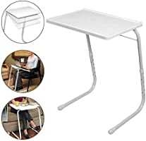 Multi-Purpose Foldable Table, White, H40.4 x W53.6 x D6.6 cm