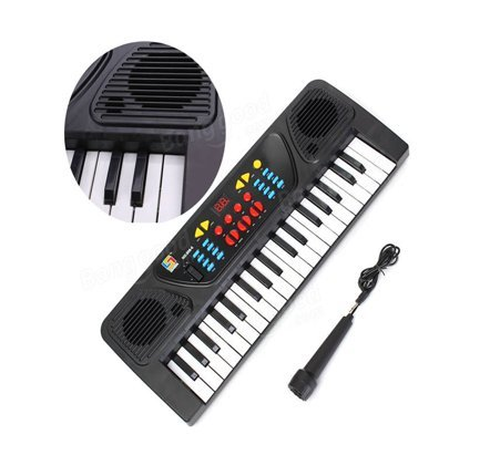 Bigfun 37 Keyboard Piano with Mic, and Charger, Recording - Great Toy Gift