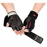 Premium guanti da allenamento per uomini e donne di Hiberno, impugnatura ergonomica per ginnastica, Pull Up, arrampicata, sollevamento pesi, allenamento ed esercizi, Black