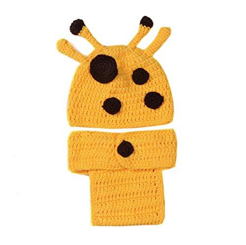 Imagen de deley hechos a mano bebé niños crochet gorro disfraz de jirafa bebé ropa de traje de la foto puntales de 0 6 meses alternativa
