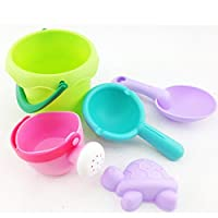 YBWZH Beach Toys Set for Kids,Beach Pail Set with Molds Bucket and soft plastic Water Beach Tools Toys