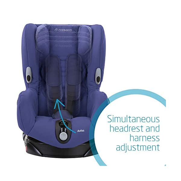 Maxi-Cosi Axiss Swiveling Toddler Car Seat, Extra Secure Fit, Reclining, 9 Months-4 Years, 9-18 kg, River Blue Maxi-Cosi Toddler car seat, suitable from 9 months to 4 years (9-18 kg) Swivels 90 degrees allows for front-on access to get your toddler in and out of the car more easily Maxi-Cosi Axiss car seat has eight comfortable recline positions 5