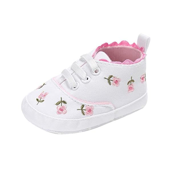 Newborn Baby Crib Shoes Trainers Infant Girl Boy Prewalker Sneakers 0-18 Months