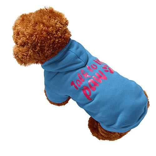 Super Hunde Kostüm Niedliche - Bluelucon Weihnachten Niedlich Hundebekleidung Super weich Fleece Kostüm Hundemantel Jacke Pet Supplies Kleidung Hunde Warme Mode Pullover Mit Kapuze