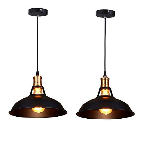 fuloon-set-of-2-vintage-industrial-e27-ceiling-light-metal-shade-loft-coffee-bar-kitchen-hanging-pen