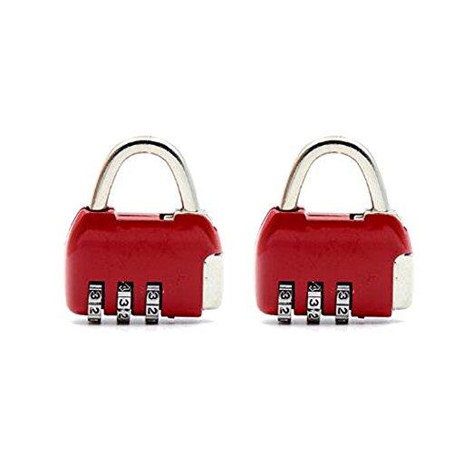 Kombinationsschloss Reisegepäck Mini-Passwortsperre Vorhängeschloss für Schule Gym Schließfach Handtaschen Schubladenschrank