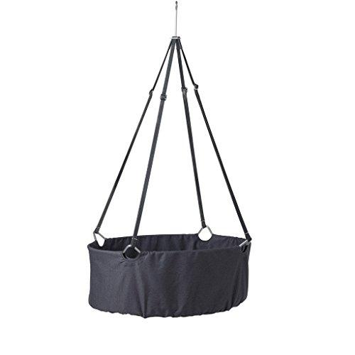 45c32172bdb878 Berceau LEANDER Gris avec Comfort TR UMELAND softschaummatratze et crochets  de plafond (sans voile