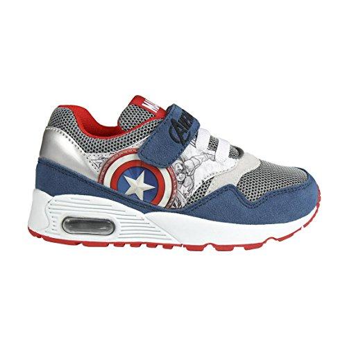 Zapatillas deportivas Vengadores Sport Max - Deportivas Avengers con cámara de aire, azul, gris y rojo + lápiz de regalo (30)