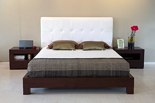 Forzza Fiji King Size Bed (Matt Finish, White)