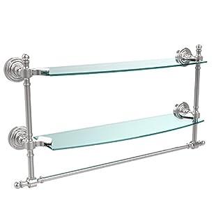 Allied Brass Double Shelf w/Towel Bar Polished Chrome by Allied Brass